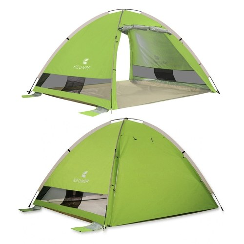 Image of Automatische Instant Pop Up Strand Zelt Leichte Outdoor UV ProtectionTent Wasserabweisend Camping Zelt Cabana Sun Shelter 3-4 Personen