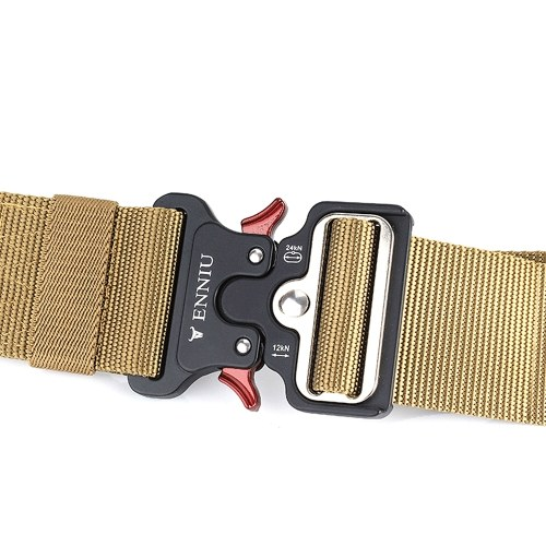 Quick Release Tactical Belt with Heavy Duty Waist Band for Outdoor Camping Mountaineering Climbing Training Hunting, TOMTOP  - buy with discount