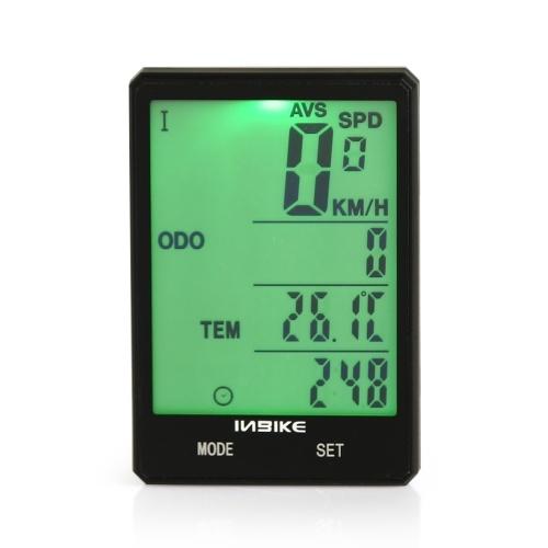 Wireless Bicycle Speedometer 2.8in Waterproof LCD Display Computer Odometer