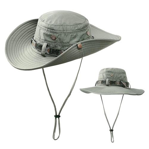 Chapéu de sol dobrável ao ar livre verão UV proteção Safari Cap