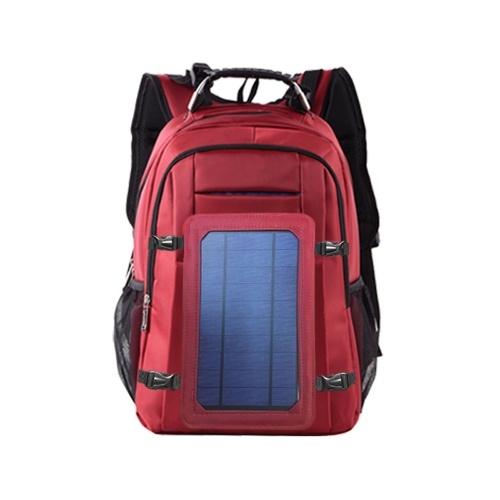 Mochila de Carregamento ao ar livre de Energia Solar com Porta USB À Prova D 'Água Saco de Viagem Respirável Resistente Ao Desgaste Mochilas de Grande Capacidade