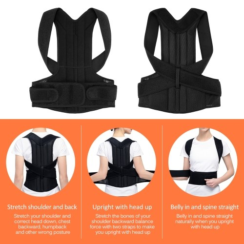 Lumbar Upper Lower Back Support Strap Belt Men Women