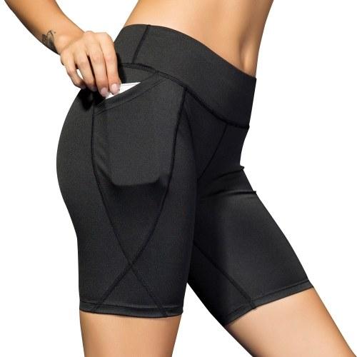 Women Out Pocket Yoga Shorts