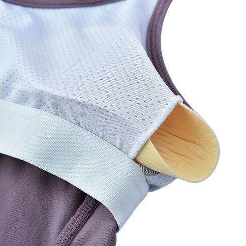 TOMTOP / Women's Yoga Shirt Open Back Tops