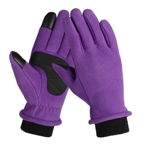 Тепловые флисовые зимние перчатки с сенсорным экраном фото