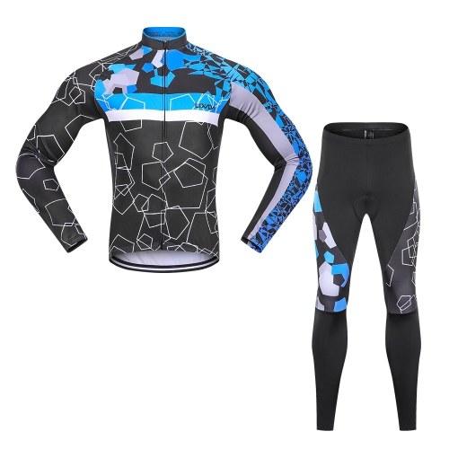 Ensemble de vêtements de cyclisme en molleton thermique pour hommes