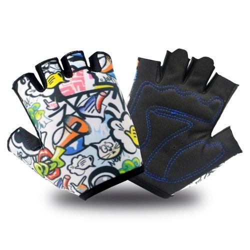 Bicycle Gloves for Kids Boys Girls Half Finger Cycling Skating Gloves Image