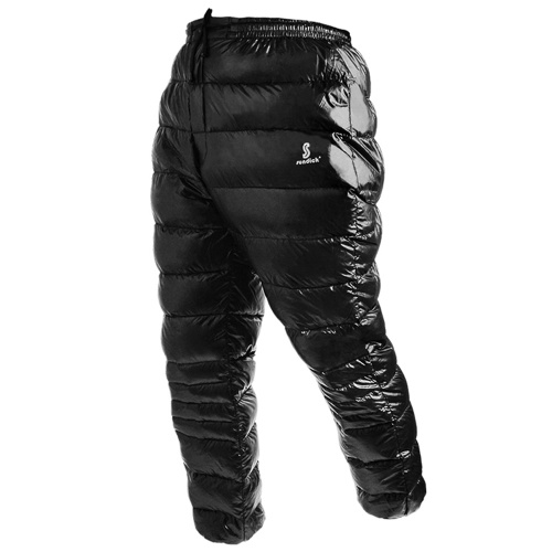 White Goose Down Pants Thermal Waterproof Down Trousers for Outdoor Travelling Mountaineering Camping