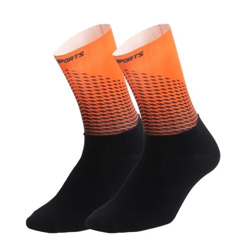 Men Women Cycling Socks Anti-Slip Wearproof Breathable Running Outdoors Athletic Compression Socks