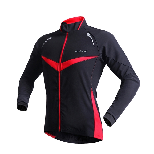 WOSAWE Winter Warm Jacket Running Fitness Exercise Cycling Bike Bicycle Outdoor Sports Clothing Jacket Long Sleeve Jersey Wind Coat