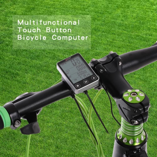 Multifunzionale Pulsante LCD Touch calcolatore della bicicletta tachimetro