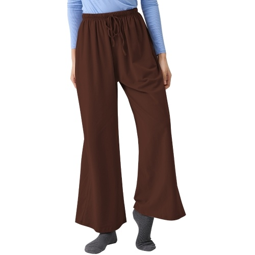 Women Cotton Yoga Sweatpants Wide Leg Lounge Joggers Drawstring Solid Loose Workout Fitness Pants with Pockets