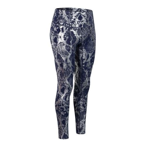 Women Yoga Pants Snakeskin Print High Waist Butt Lifting Leggings Moisture-wicking Running Workout Tights