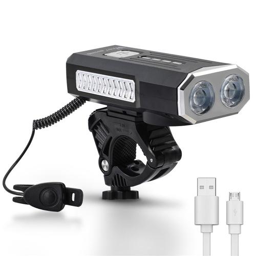 WEST BIKING USB 1000 Lumens Bike Light 360° Rotate Base with Horn Bike Headlight Cycling Equipment
