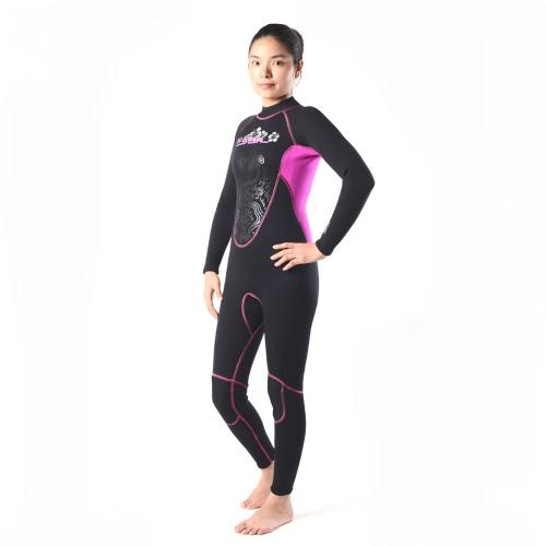 3 mm ネオプレン完全なスーツ女性水泳サーフィン シュノーケ リング ウェット スーツ水着