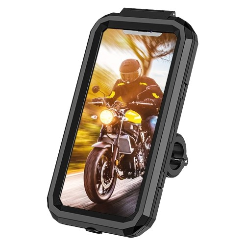 Waterproof Bicycle Phone Holder Mount for Mountain Bike Scooter Motorcycle 360° Rotation Handlebar Mobile Phone Holder Stand