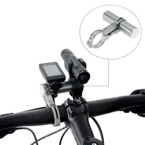 Titolare CNC in lega di alluminio Bike manubrio della bicicletta Extender supporto di estensione per Cronometro Torcia