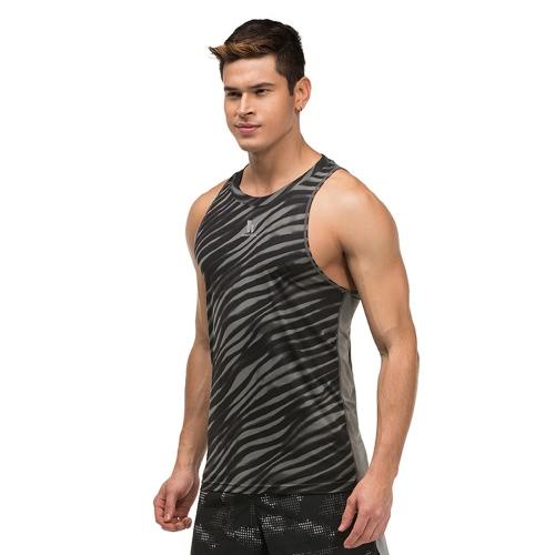 De secado rápido de los hombres superiores de la aptitud sin mangas para hombre del Bodybuilding camisa de la ropa de deportes del chaleco