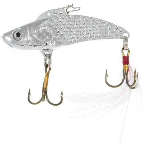 Lixada 3pcs / lot engaña 8g / 12g / 18g de lentejuelas VIB duro de la pesca del cebo de pesca de las lentejuelas con Triples