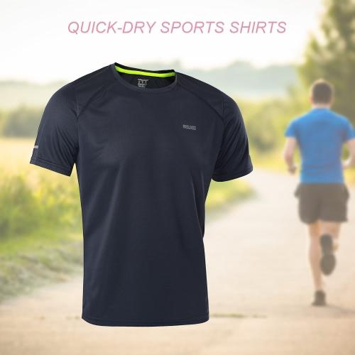 クイックドライランニングスポーツサイクリングTシャツシャツ夏