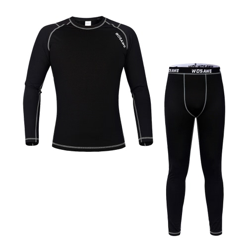 WOSAWE® Unisex Winter Fleece Cycling Long Sleeve Thermal Jersey Pants Thermal Underwear Cycling Bicycle Clothing Sets Suits Outdoor