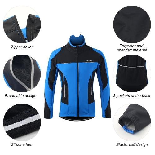 Lixada Herren Outdoor Radjacke Winterthermalbreathable bequeme Langarm Mantel Water Resistant Sport Reiten