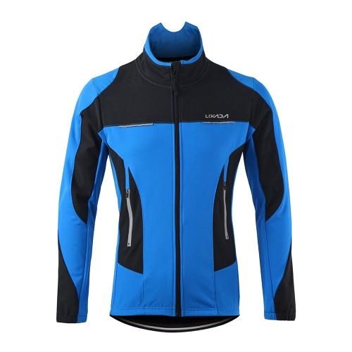 Outdoor Ciclismo masculino Lixada jaqueta de inverno térmica respirável confortável manga comprida Brasão Resistente à água Montando Sportswear