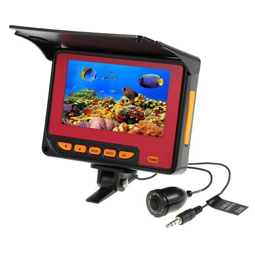 4.3 '' LCD a color digital 1000TVL buscador de los pescados HD IR LED de la cámara Pesca subacuático del monitor de la cámara de la pesca de la UE 20 metros de cable / enchufe de EE.UU.