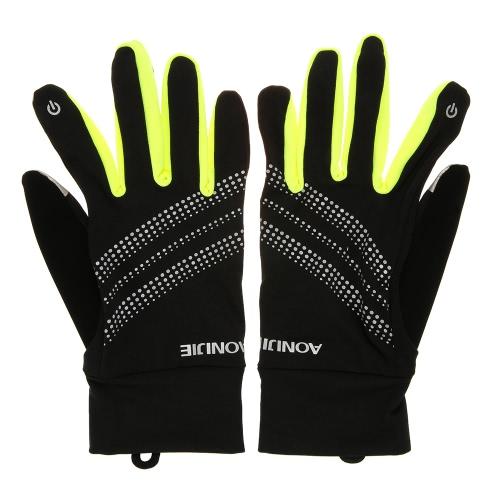 AONIJIE Outdoor Sport Uomo Donna guanti caldi antivento in bicicletta da corsa Escursionismo Moto Finger completa Touch Screen Gloves