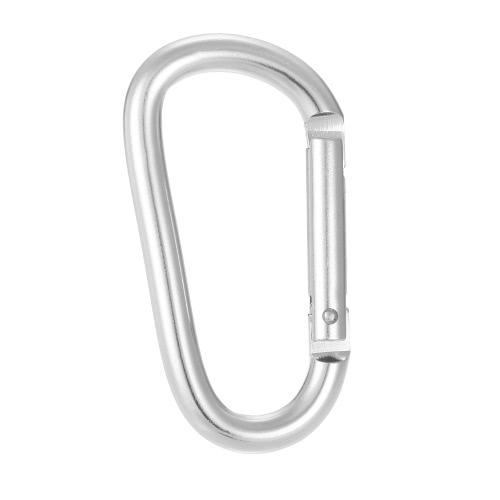 Lixada Pack von 6 Aluminium Karabiner Clip D-Ring Verschluss Karabiner Schlüsselanhänger Haken