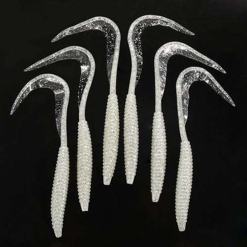 Lixada 6 PZ 17.5 cm / 7g Forma a Spirale Corpo Coda Lunga Soft Fishing Lure Soft Bait Worm Colore misto Richiamo di pesca Set