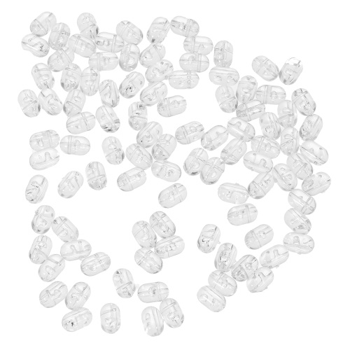 100PCS Fishing Beads Transparent Double Cross Hole Beads Hard Clear Beads Sets