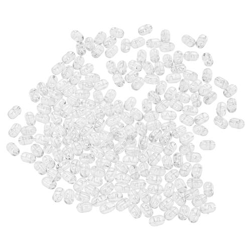 200PCS Perle da pesca Tranparent Doppio foro trasversale perline Duro chiaro perline Imposta esche da pesca esche dure