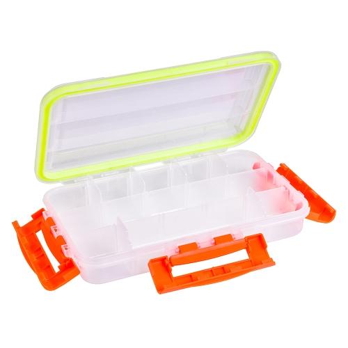 Transparent Sichtbar Klar Fischköder Box Fischköder Haken Tackle Zubehör Aufbewahrungsbox Fall Container