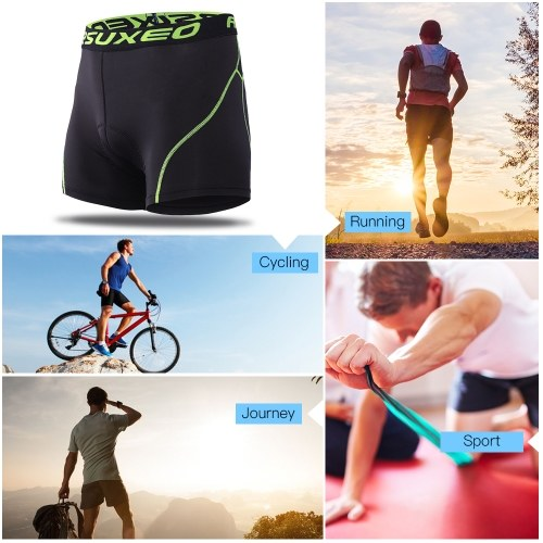 ARSUXEO Men's Cycling Underwear 3D Padded Bike Bicycle MTB Shorts