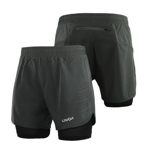 Lixada Men's 2-in-1 Running Shorts