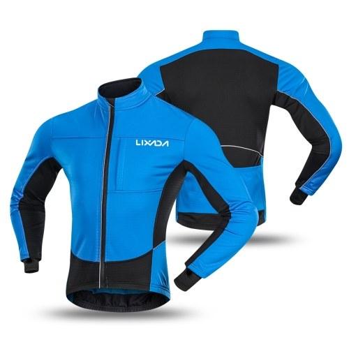 Lixada Winter Thermal Polar Fleece Men's Windproof Cycling Jacket