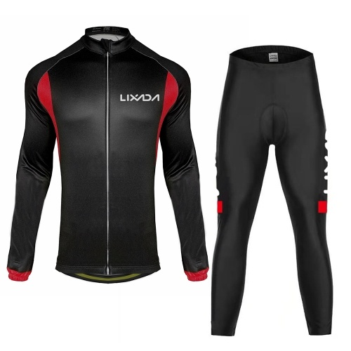 Terno de pano de ciclismo esportes Lixada inverno outono masculino