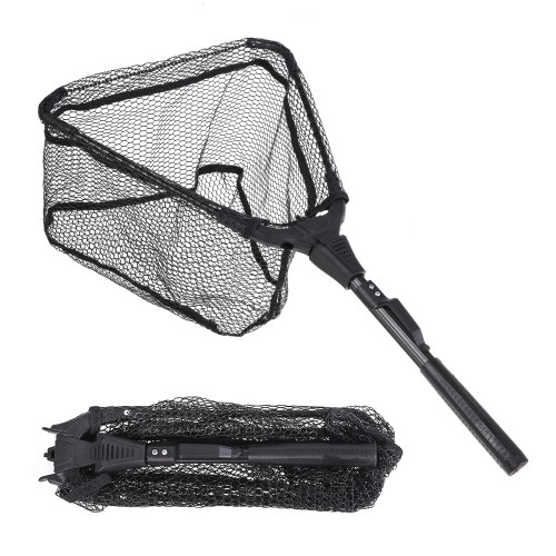 Portable Collapsible Triangular Fly Fishing Net Image
