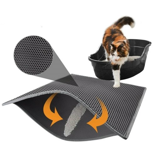 EVA Black Double Layer Cat Litter Mat Waterproof Bottom Layer
