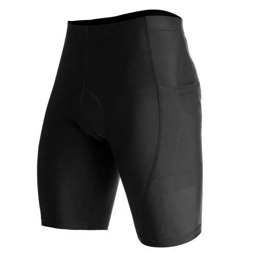 Lixada Men Cycling Shorts Breathable Quick Dry Padded Bicycle Riding Biking Shorts Tights with Pockets Image