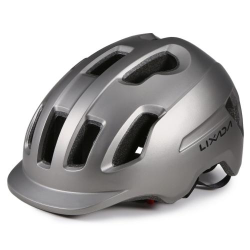 Lixada Mountainbike Helm mit Sonnenblende Ultraleicht verstellbarer MTB Fahrrad Fahrradhelm Männer Frauen Sport Outdoor Schutzhelm