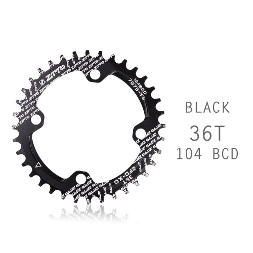 Bicycle Crank 104BCD Round Shape Narrow Wide 32T/34T/36TMTB Chainring Bicycle Chainwheel Bike Circle Crankset Single Plate Image