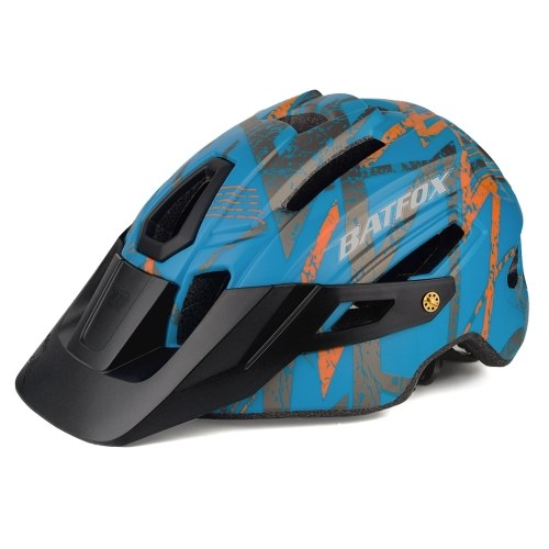Bike Cycling Helmet with LED Tail Light Mountain Road Bicycle Helmets Outdoor Sport Safety Protective Helmet with Removable Visor Image