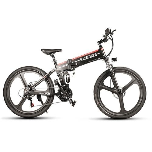 Samebike LO26 Bicicleta eléctrica plegable de 26 pulgadas