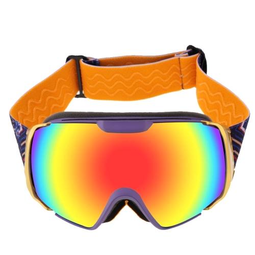 Double Lens Anti-fog Windproof UV 400 Skiing Skating Goggles