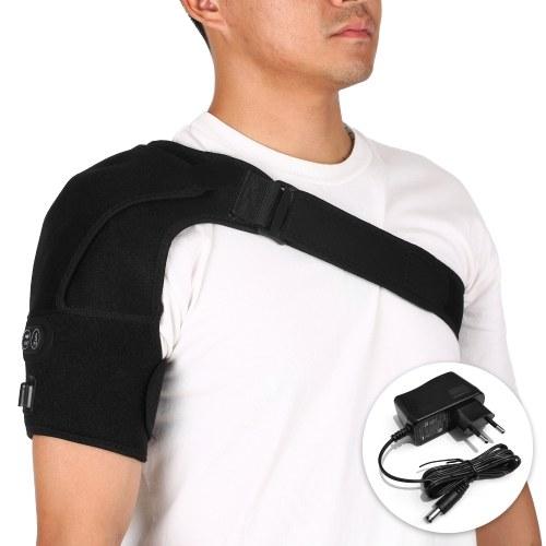 Manicotto di compressione della spalla della cinghia del cuscinetto a infrarossi del riscaldamento del tutore della spalla riscaldata massaggiante portatile con adattatore UK / US / EU