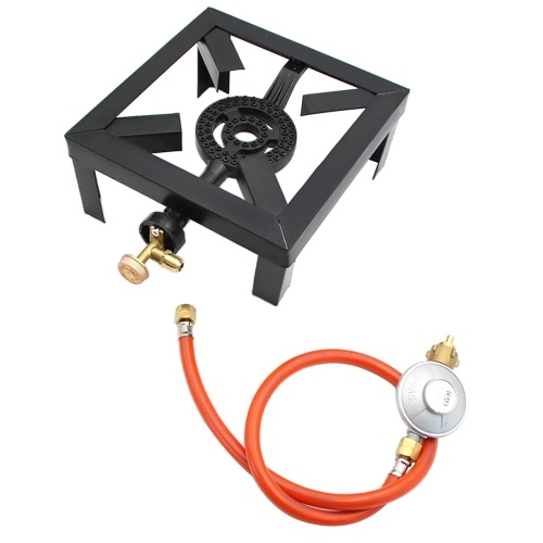 8KW Gas Boiling Ring Cast Iron Burner Large LPG Stove Outdoor Cooker Iron Frame Portable Fire Control Stove