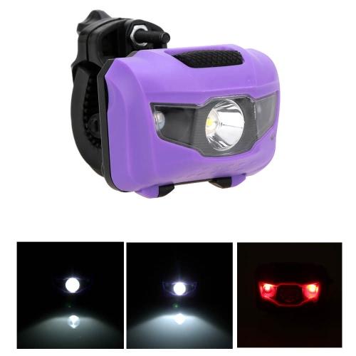 Biciclette bici luce anteriore posteriore coda lampada Mini LED luce Flash