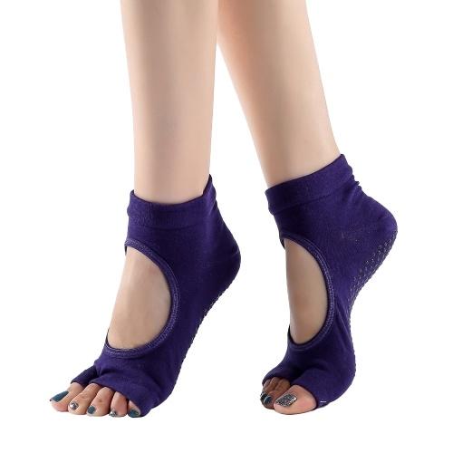 Women Yoga Socks Toe Socks Open Toe Anti-slip Breathable Moisture-wicking Dance Workout Socks
